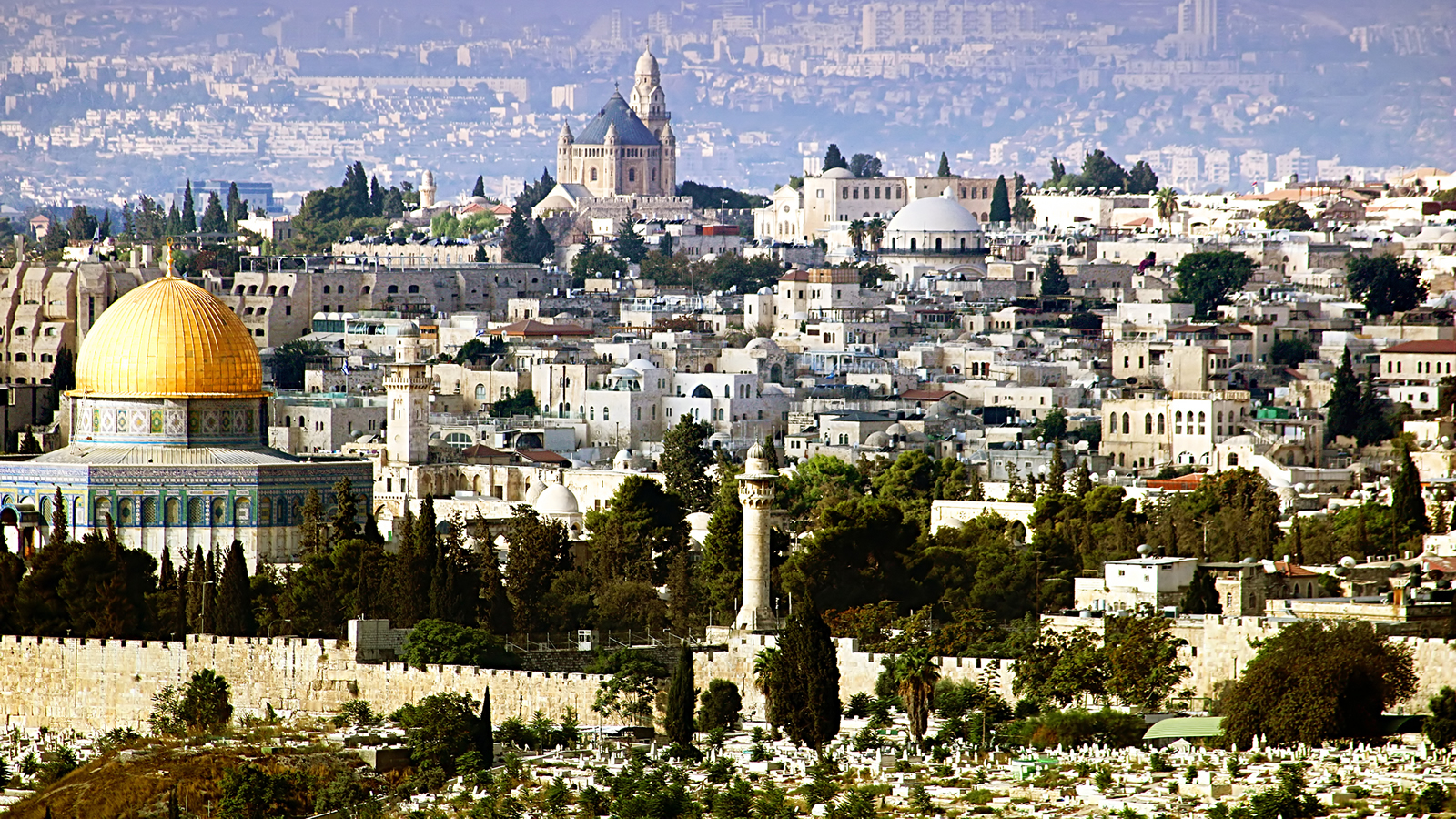 Jerusalem Skyline with Al-Aqsa Mosque