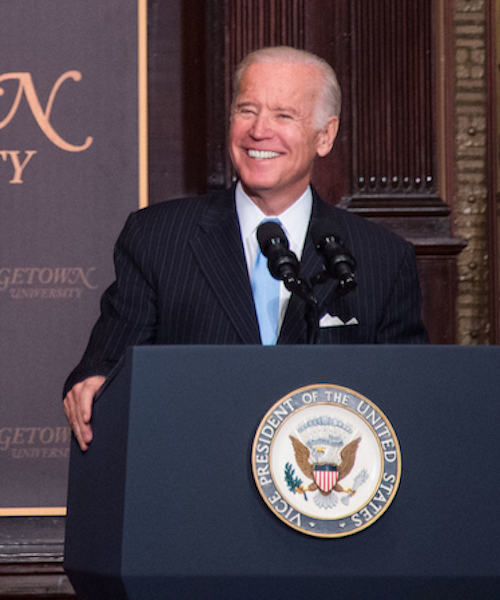 Joe Biden speaks at Georgetown University