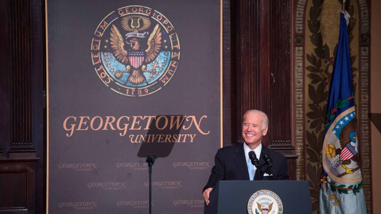 Joe Biden at Georgetown University in 2016.