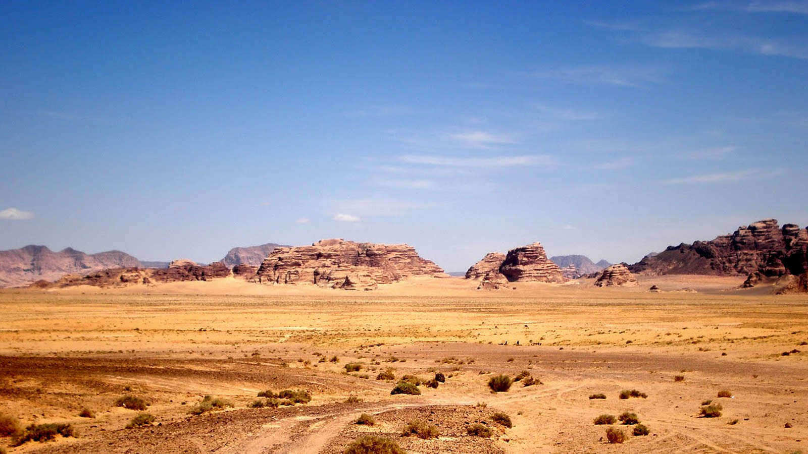Desert Mountains with Road in Jordan