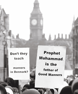 Jyllandspostenmuhammadcartoonsprotestorslondon