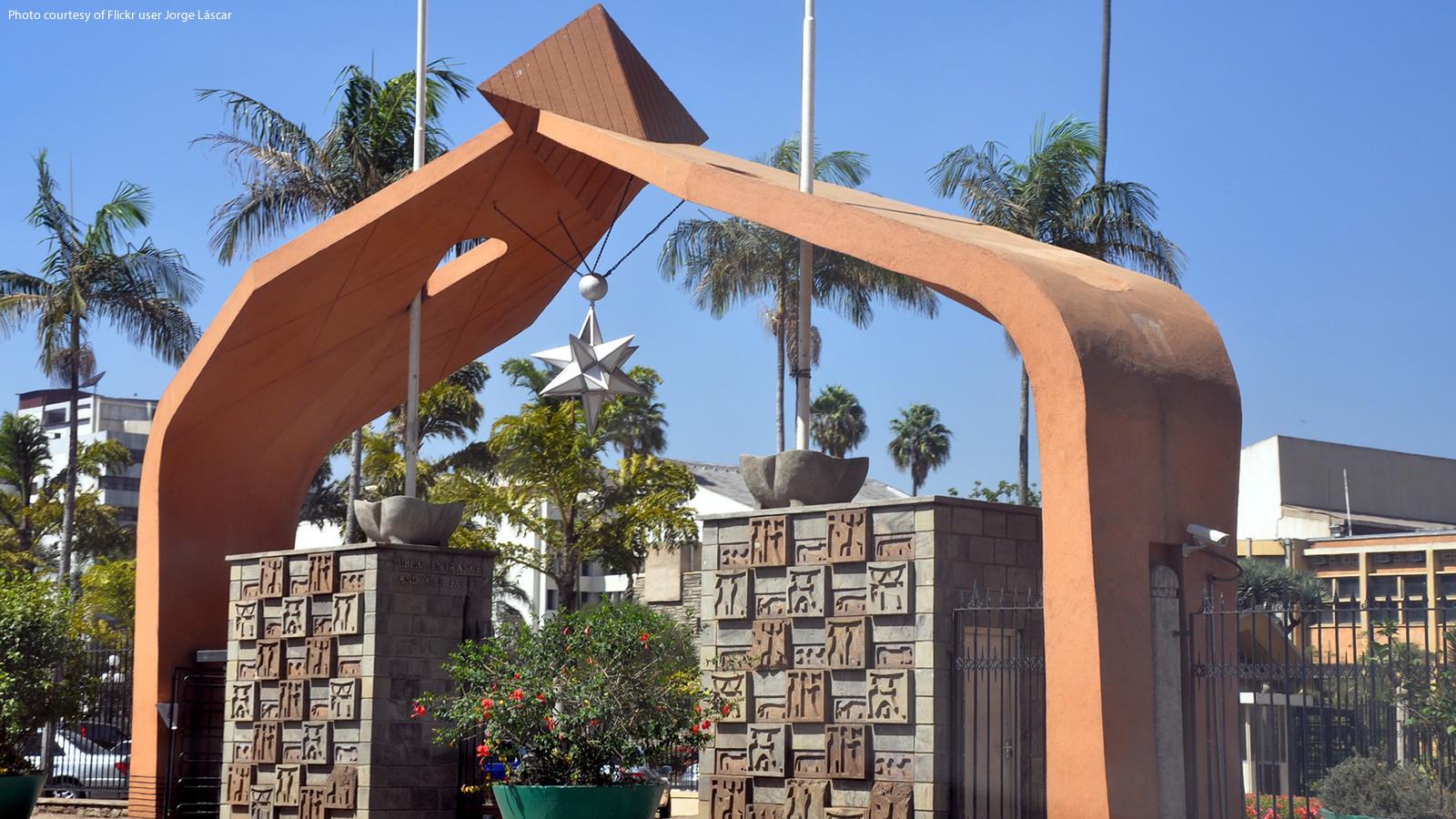 Kenya Parliament Entryway Arch