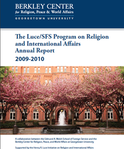 Luce/SFS Program Annual Report 2009-2010