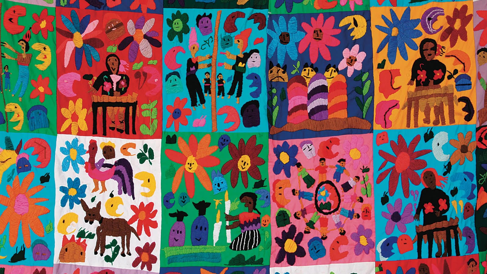 Quilt with Children's Art