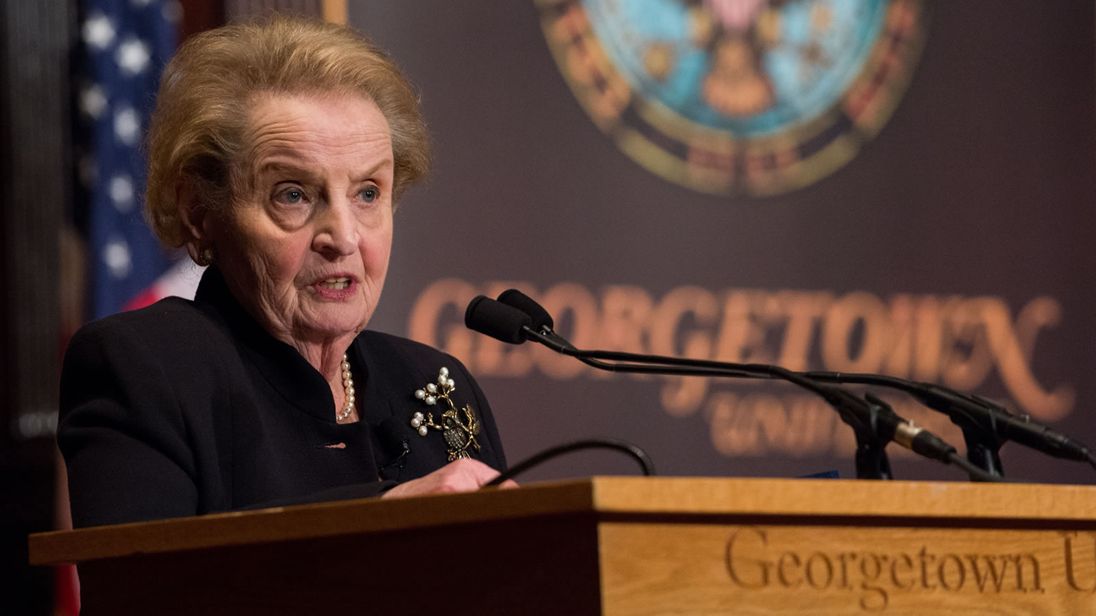 Madeleine Albright Giving Tenth Anniversary Berkley Lecture in 2016