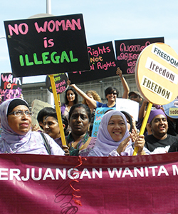 Malaysia Womens' Rights Protest