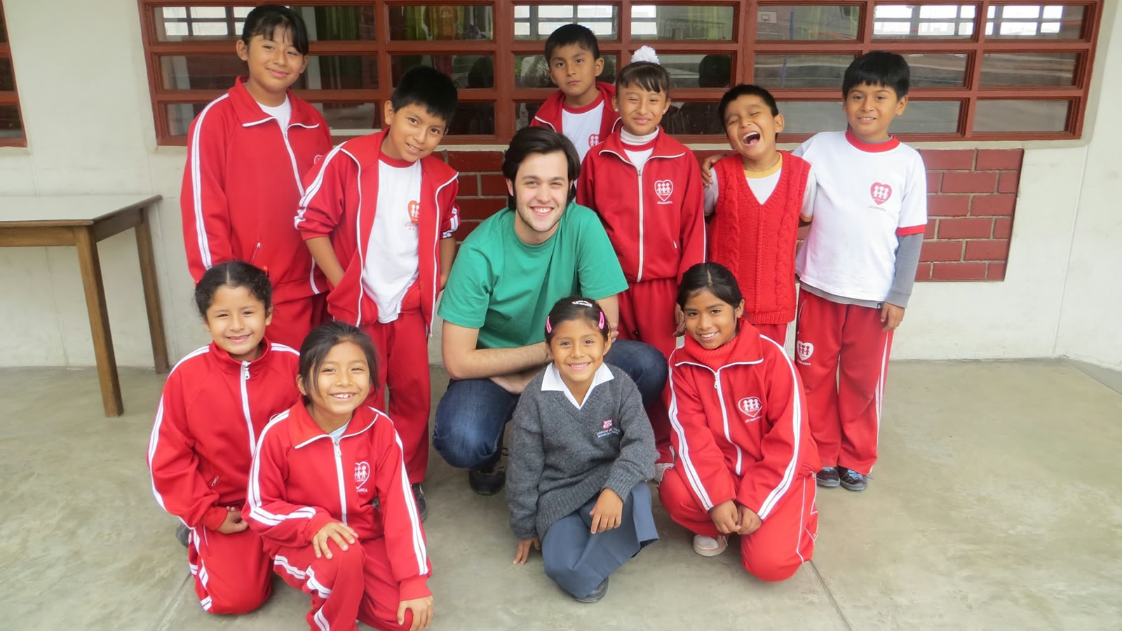 Nick Dirago with Fe y Alegria Peru Students