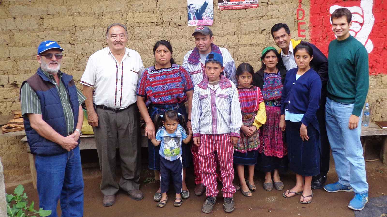 Nicolas Lake with Family in Guatemala