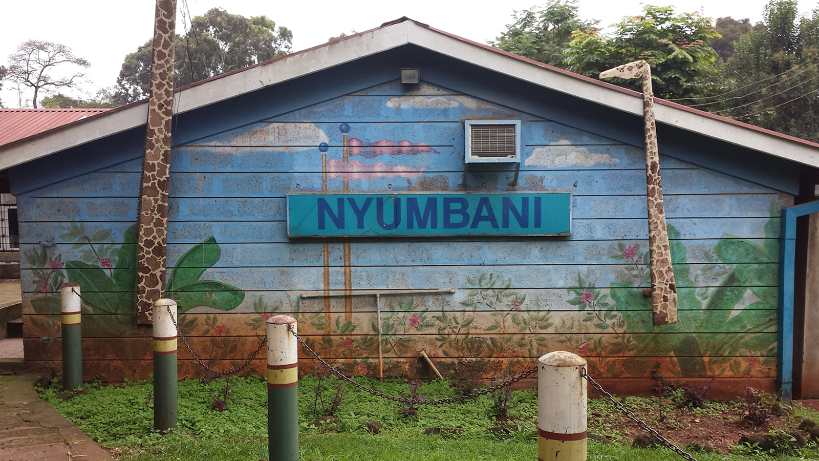 Nyumbani Building with Mural in Kenya