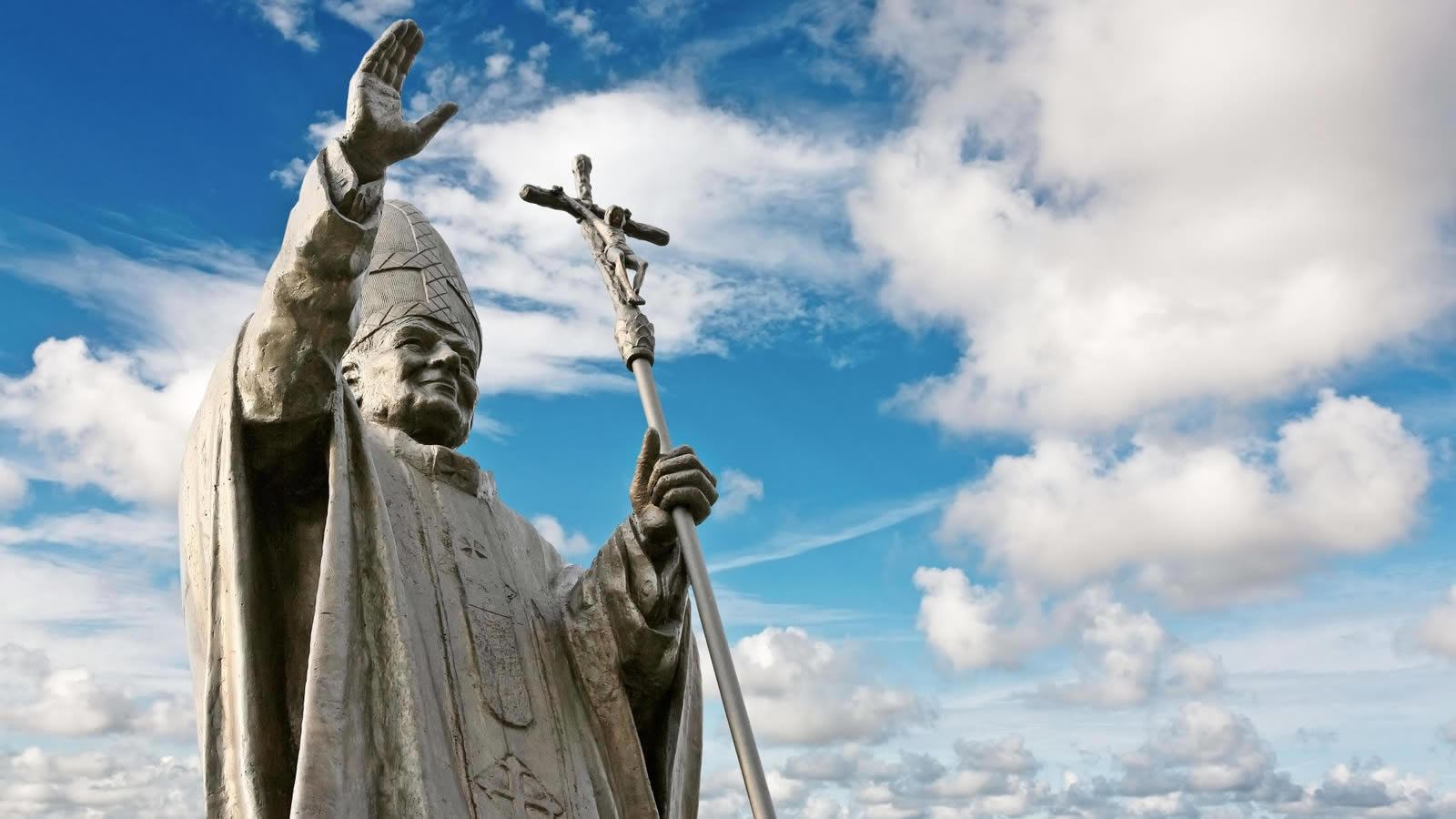 Statue of Blessed Pope John Paul II