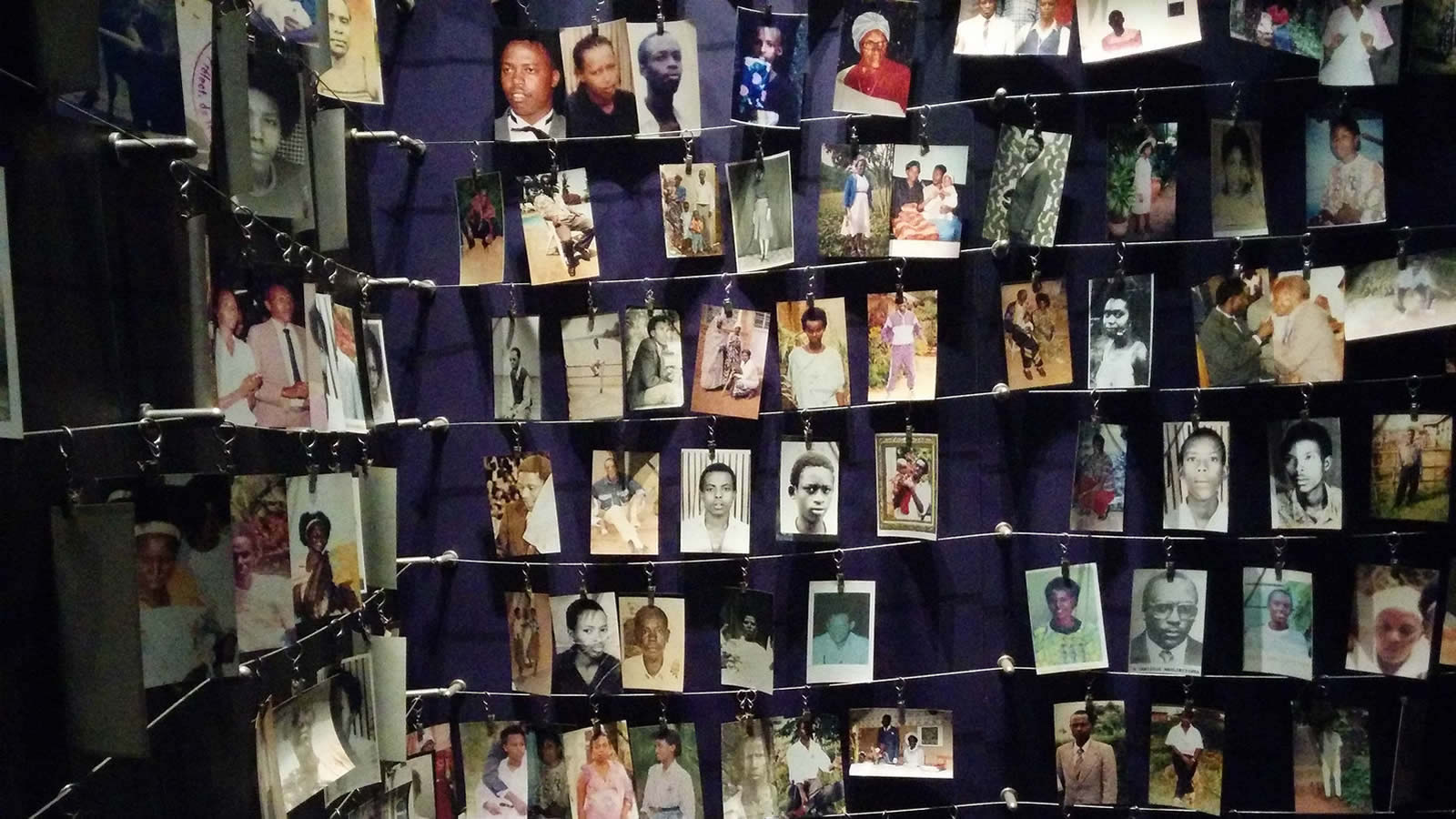 Genocide Memorial with Victims' Personal Photos in Kigali, Rwanda
