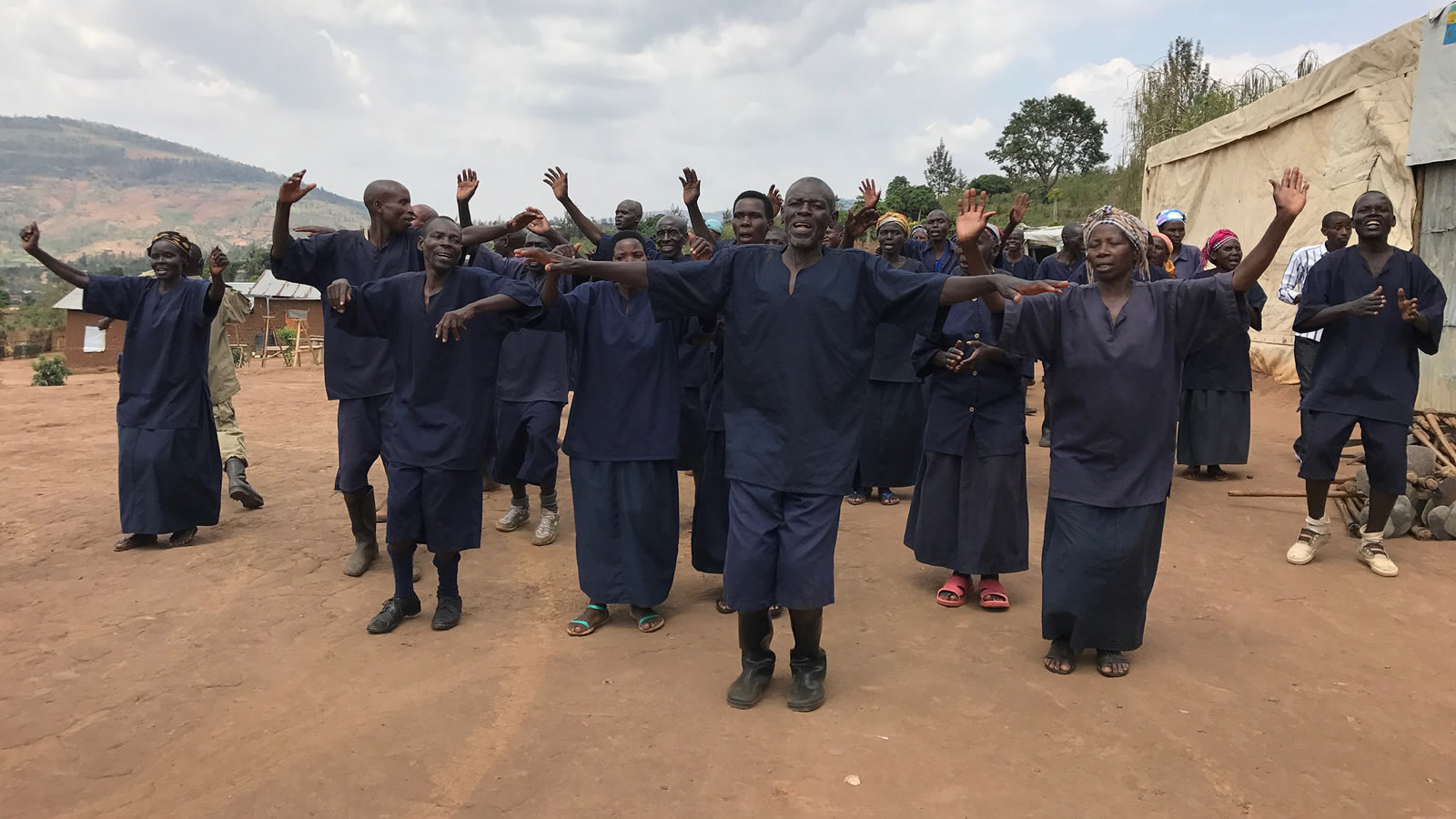 People Singing at the Mageragere TIG Camp in Rwanda