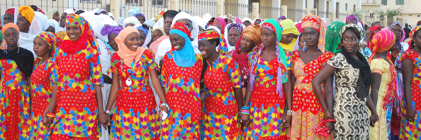 Senegalese Women in Red Dresses