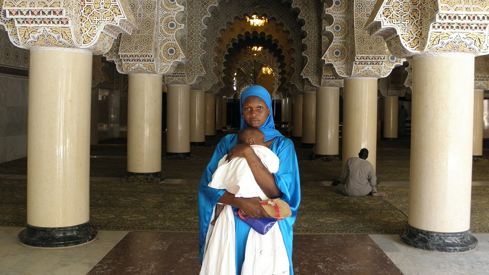 Woman and Baby in Senegalese Mosque