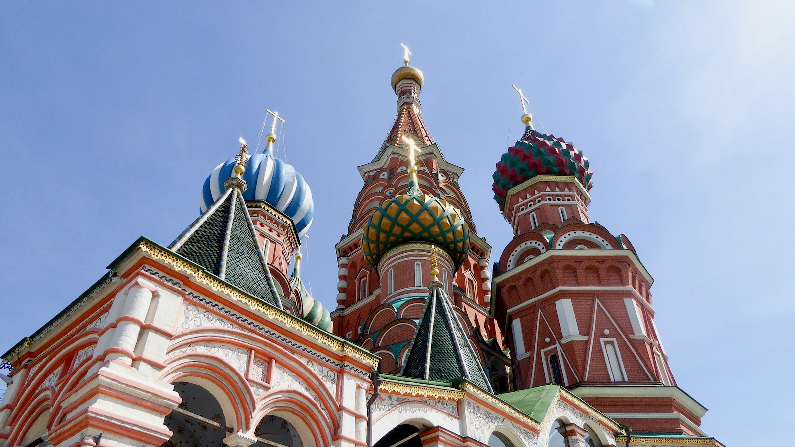Exterior view of St. Basil's Cathedral in Moscow