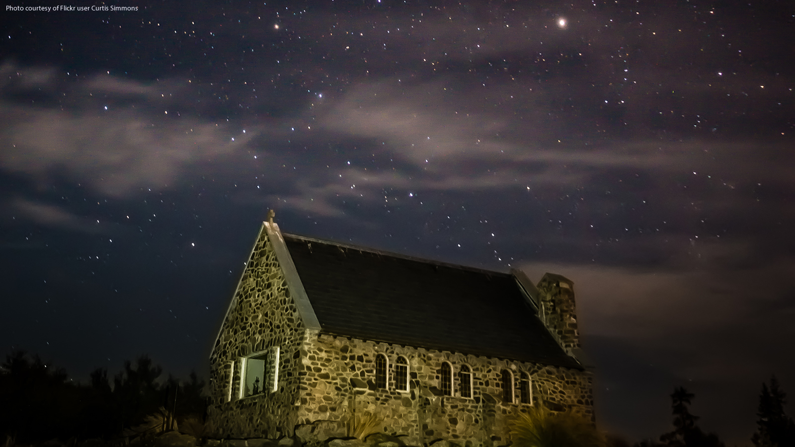 Stars Above a New Zealand Church
