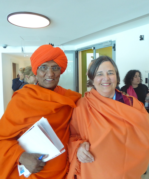 Swami Agnivesh and Katherine Marshall