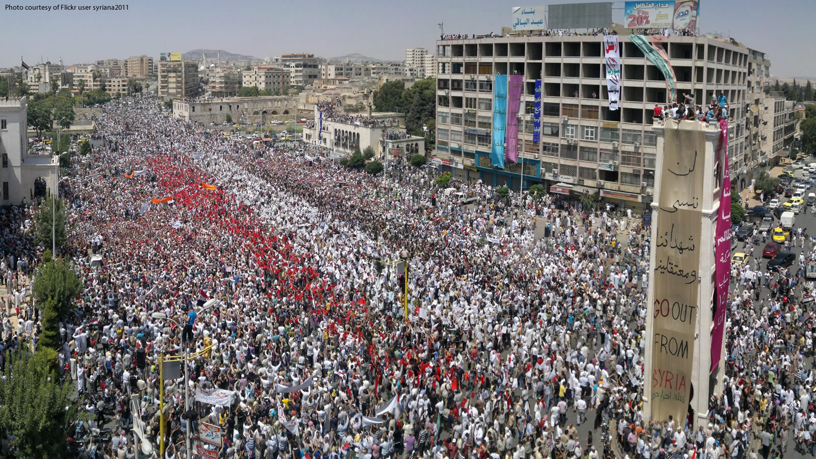 2011 Protest in Al-Assy Square in Hama, Syria