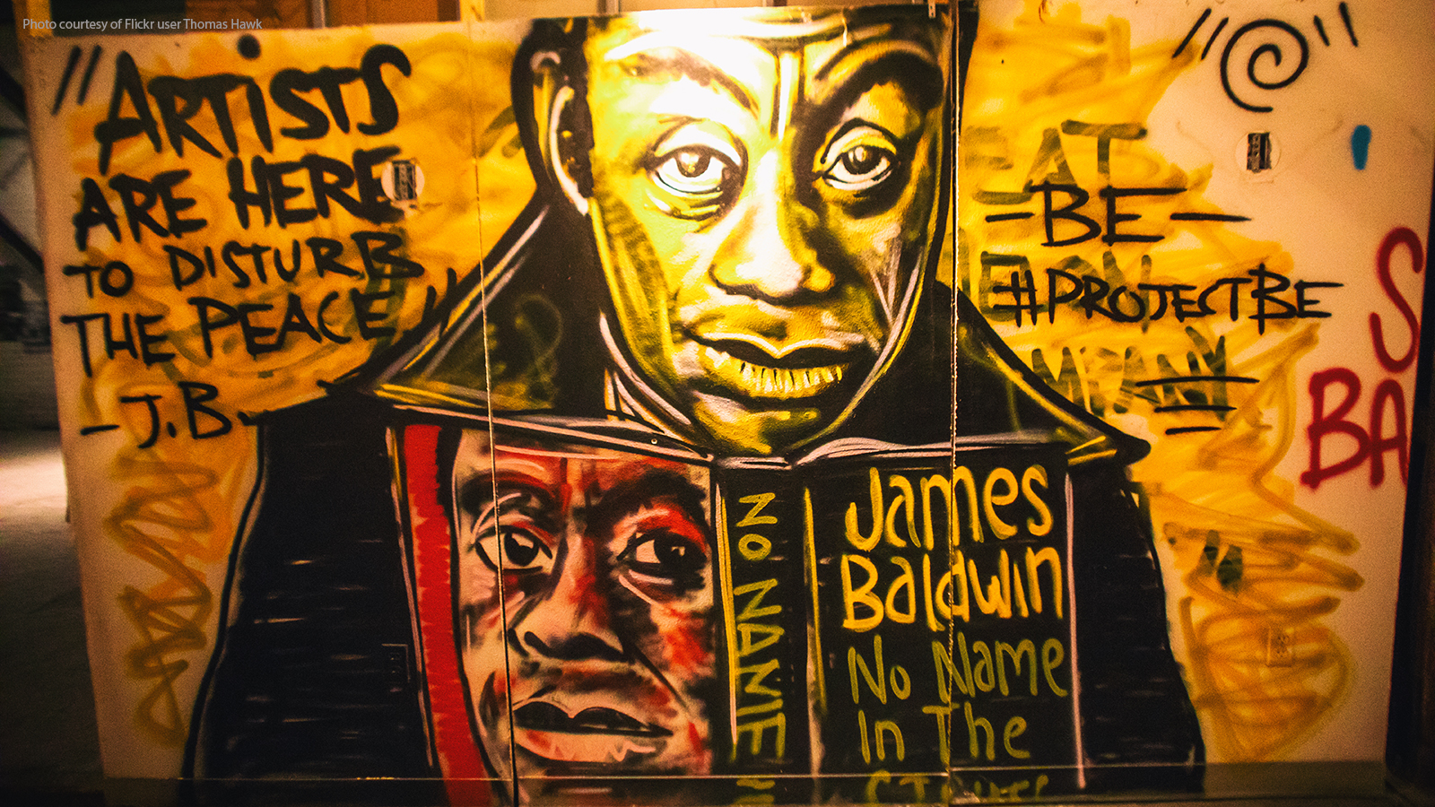 James Baldwin graffiti