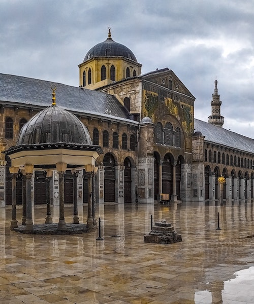 Yard of the Umayyad Mosque in Damascus, Syria