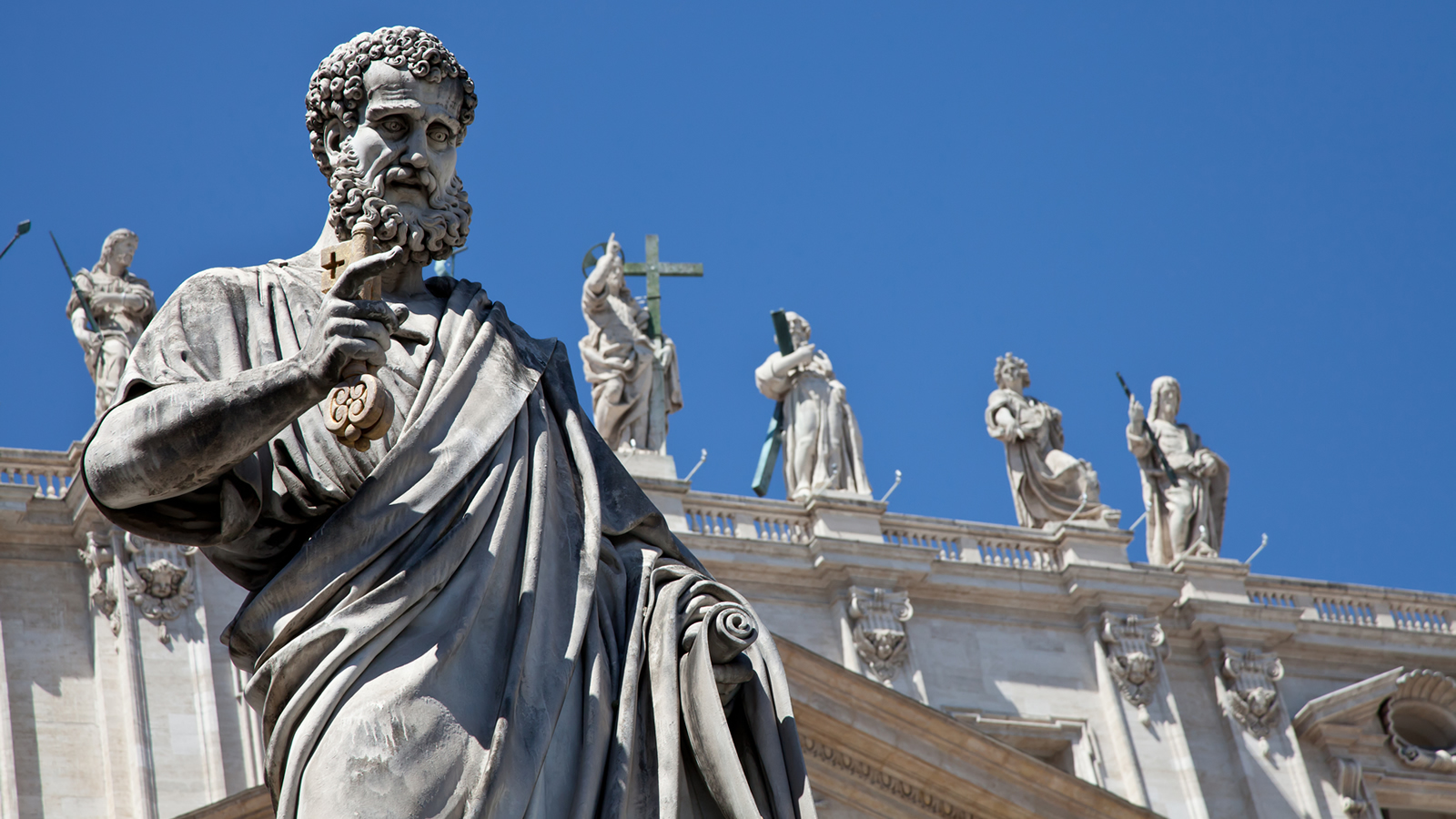 Statue of St. Peter with Key of Heaven at the Vatican