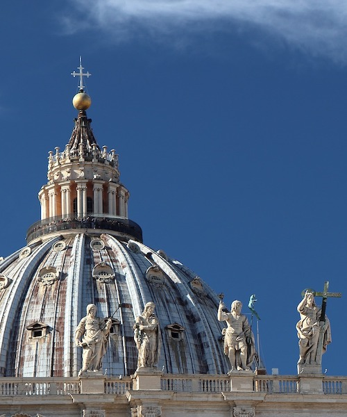 Dome of St. Peter's Basilica in the Vatican