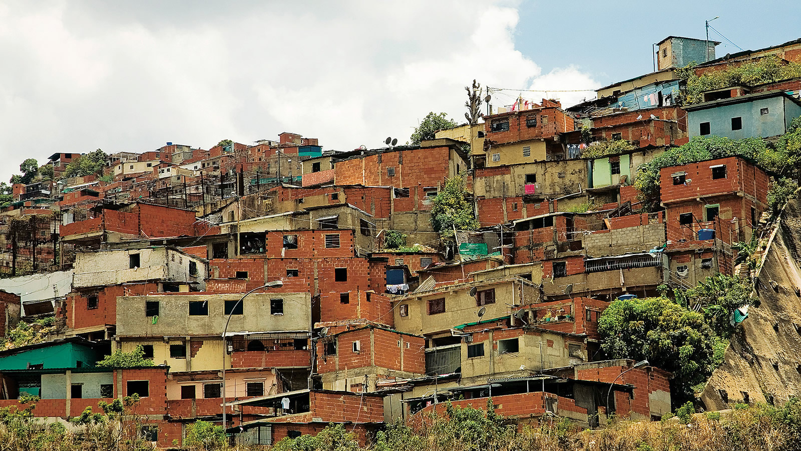 Hillside Shantytown in Venezuela