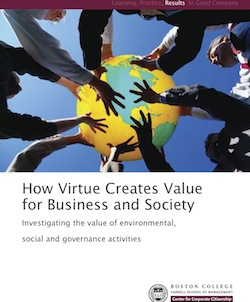 How Virtue Creates Value for Business and Society: Investigating the Value of Environmental, Social and Governance Activities