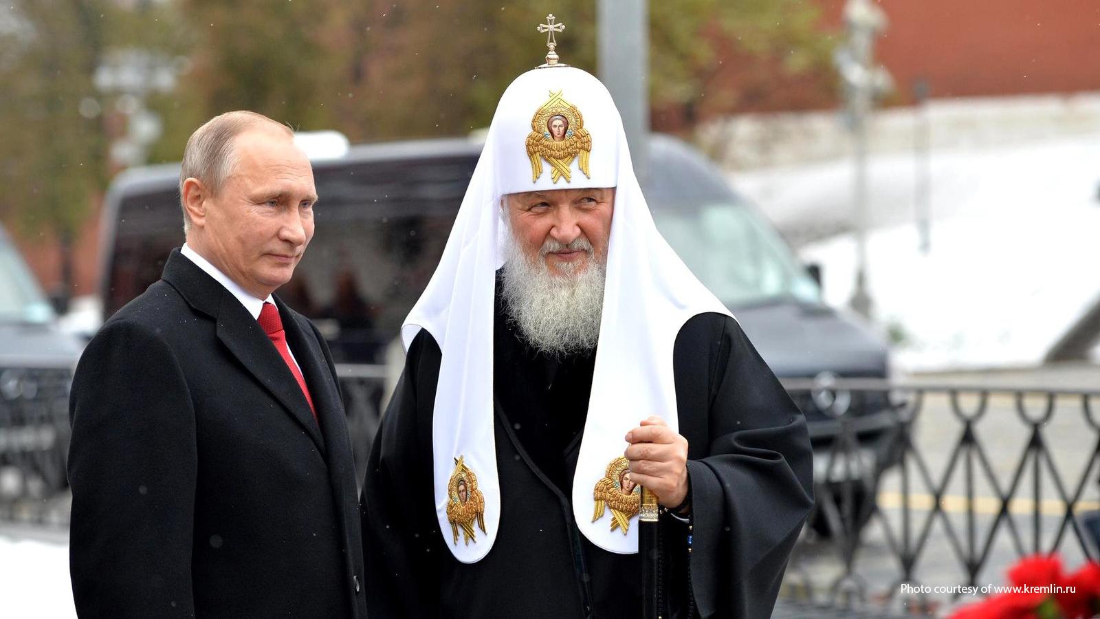 Vladimir Putin and Patriarch Kirill in 2016.
