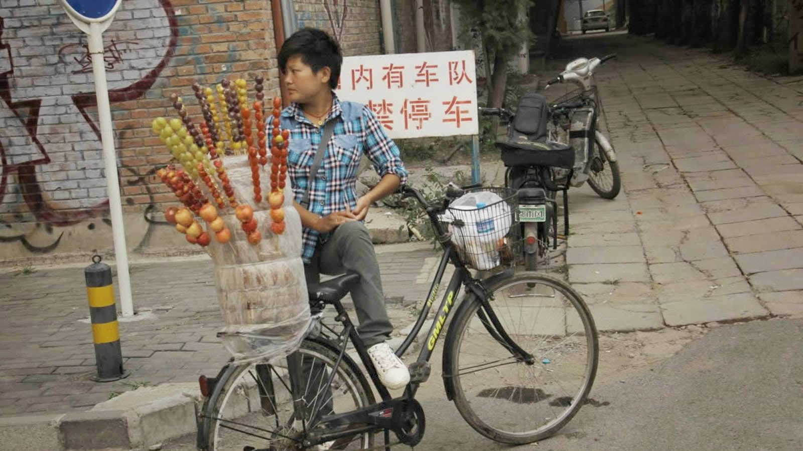 Market Vendor on Bicycle in Nepal