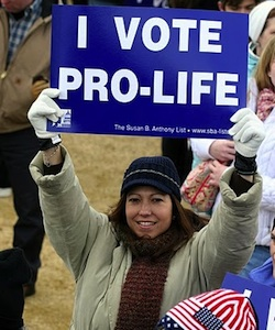 Womanivoteprolifesign