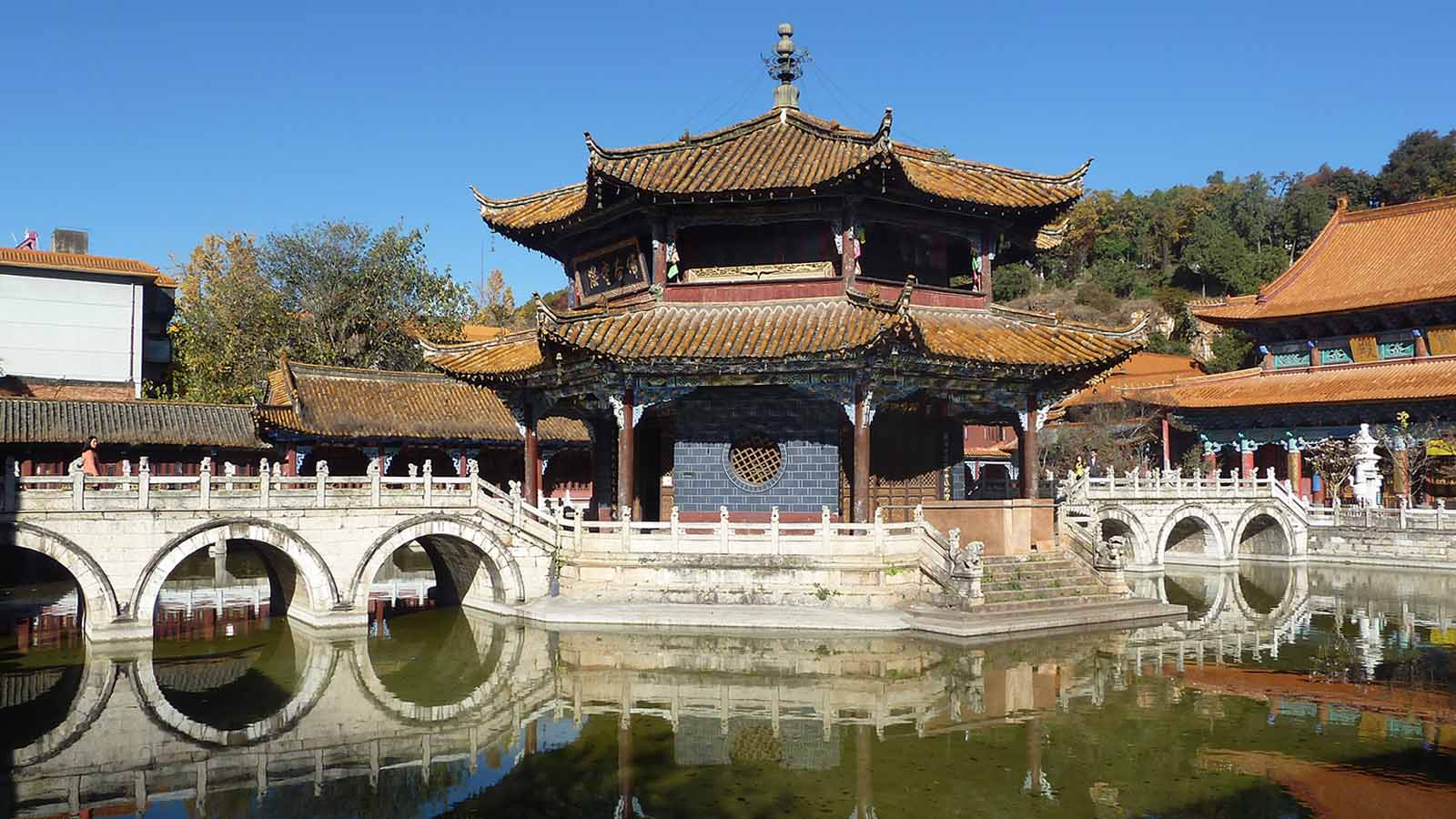 Yuantong Buddhist Temple in Kunming, China.