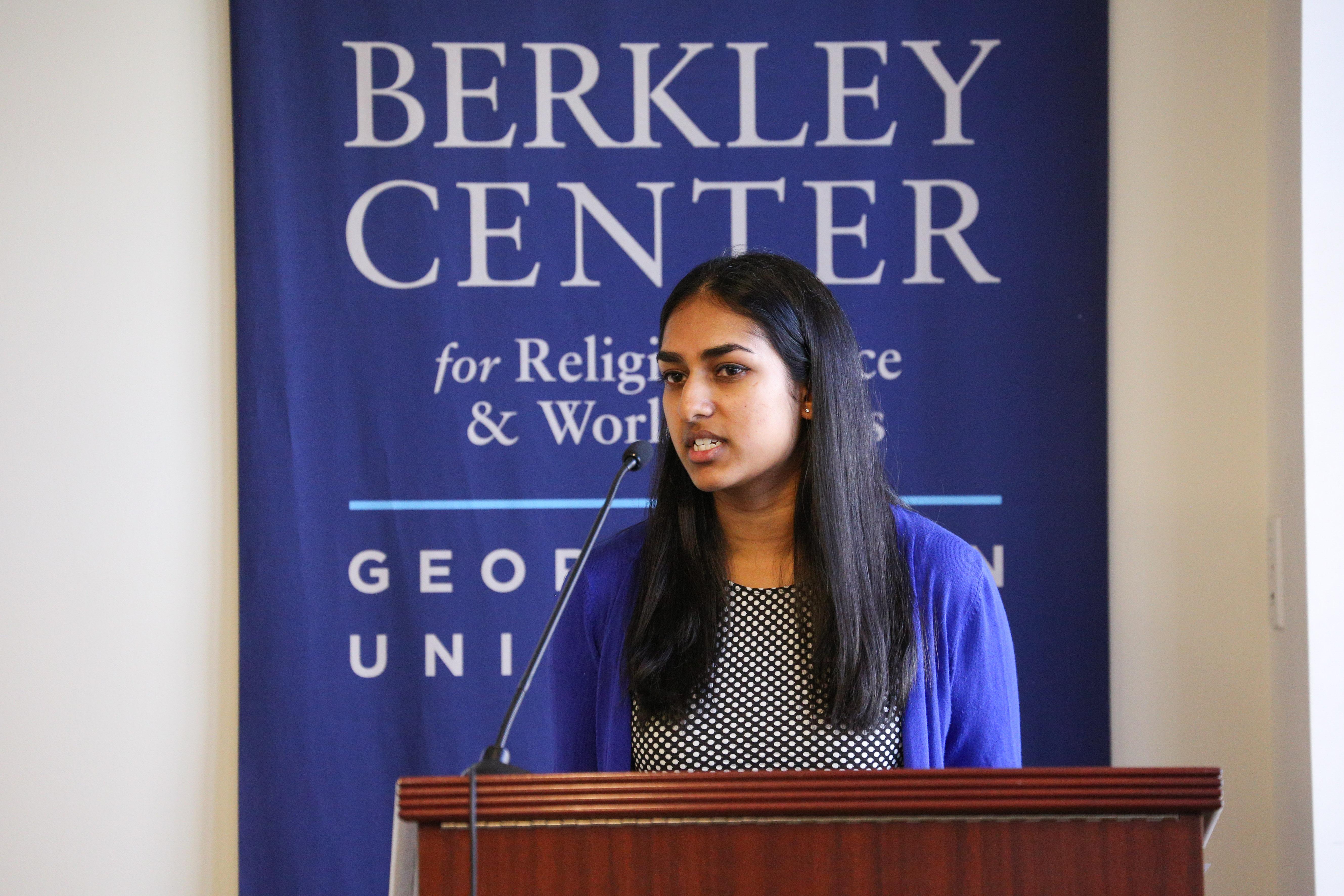 Harshita Nadimpalli (SFS'18) presents her ESJ research, 2018.