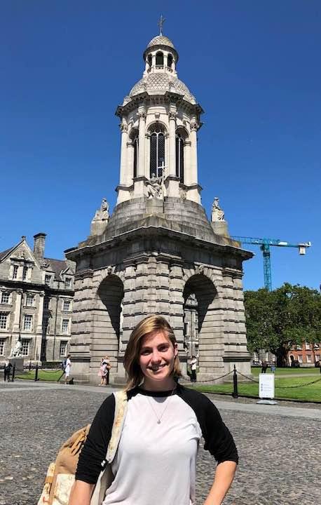 Mackenzie Price at Trinity College Dublin, 2019.