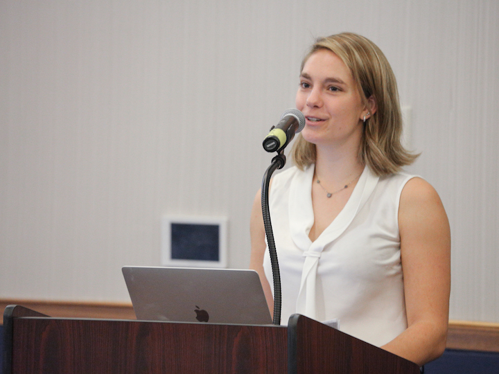 Mackenzie Price presents her ESJ research, 2019.