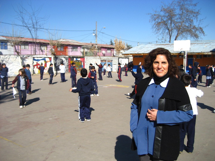 A teacher watches over her students in Chile, 2010. Photograph by Cindy Shuck (SFS'11).