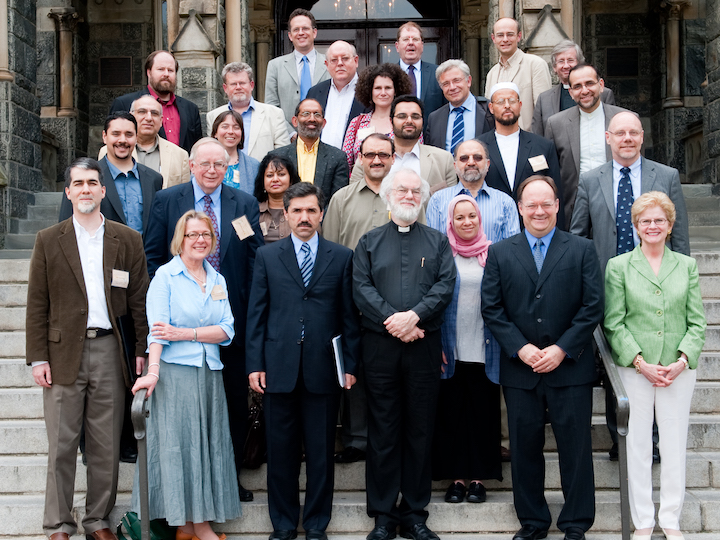Langan with fellow participants in the 2010 Building Bridges Seminar, an interreligious gathering.
