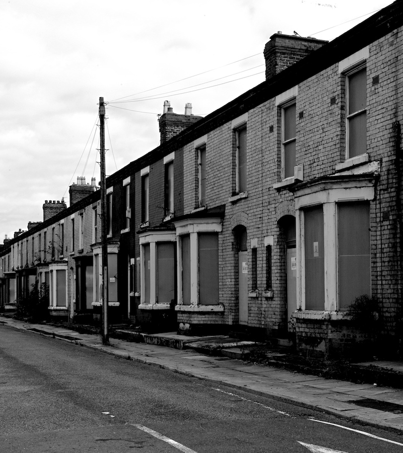 Row houses in Liverpool, UK. Photo by John Naughton, 2013.