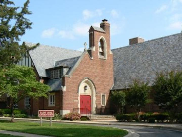 Exterior of St. Luke Lutheran Church in Silver Spring, Maryland