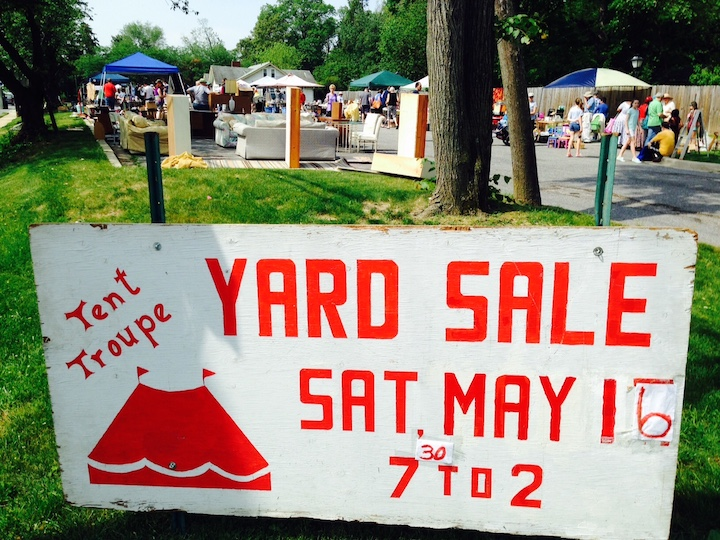 Yard sale organized by St. Luke's Tent Theatre Ministry