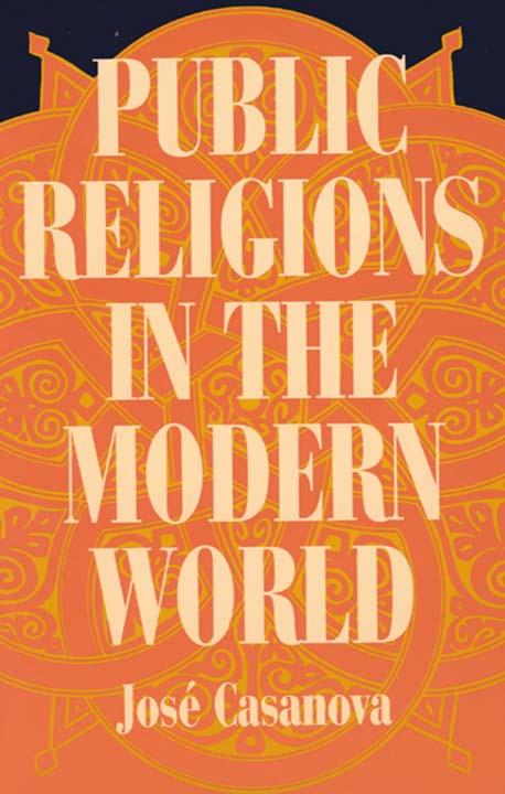 Book cover of Public Religions in the Modern World, published in 1994.