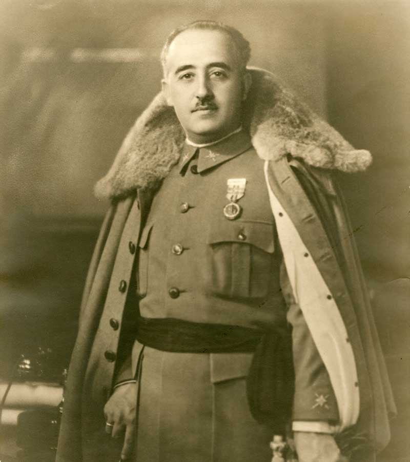 Spanish dictator Francisco Franco.
