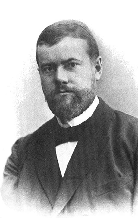 Portrait of Max Weber in 1894.