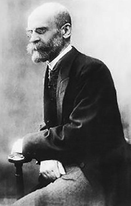 Portrait of Emile Durkheim.