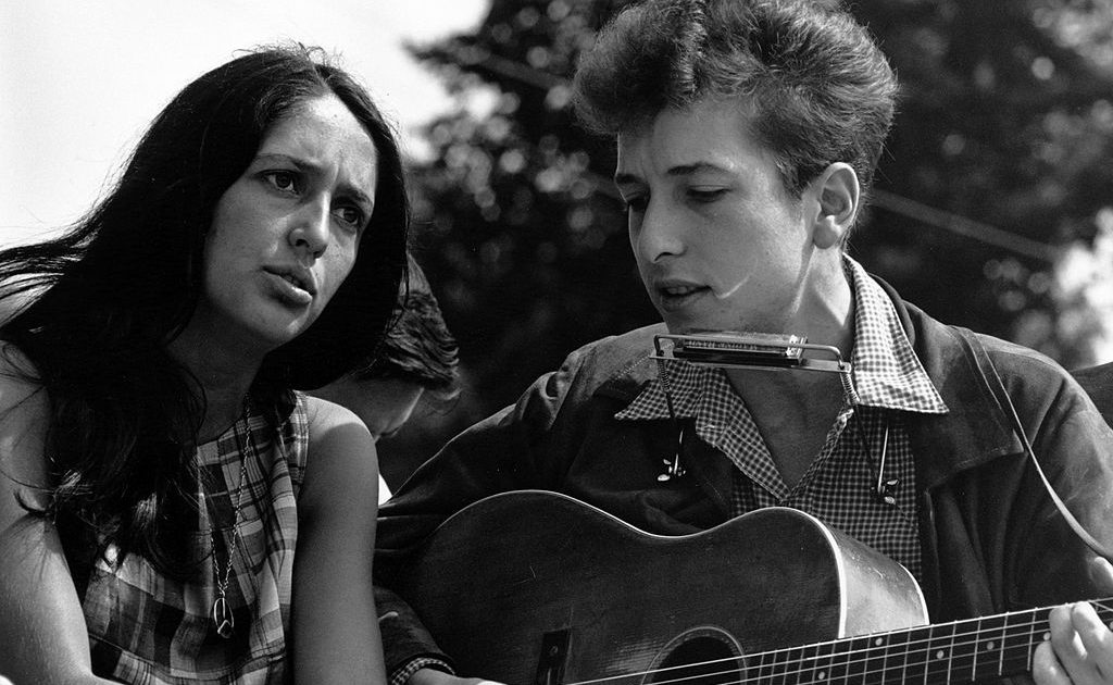 Joan Baez Bob Dylan March on Washington Aug. 28, 1963. Photo: Rowland Scherman.
