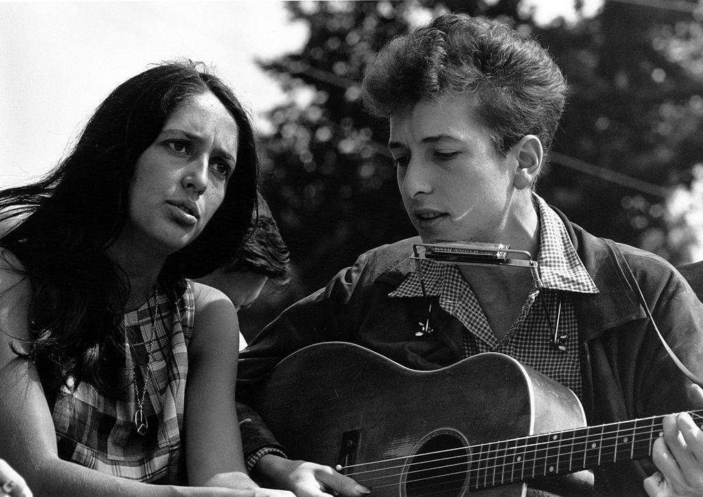 Joan Baez Bob Dylan March on Washington Aug. 28, 1963. Photo: Rowland Scherman.