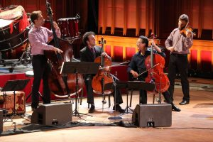 Yo-Yo Ma with musicians from the Silk Road Ensemble, Ozawa Hall, Tanglewood.