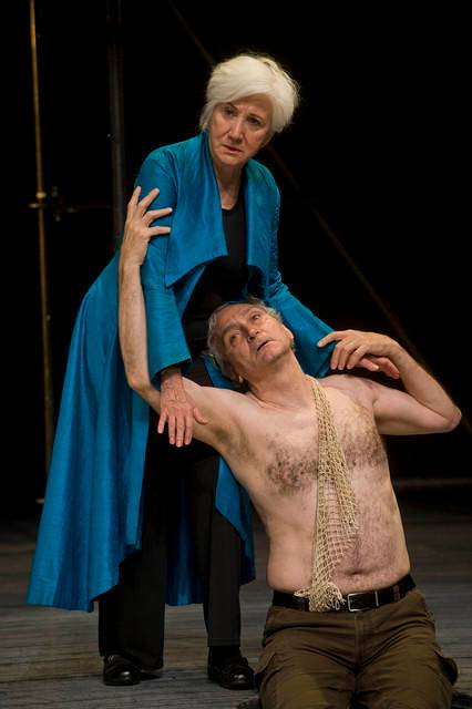 Olympia Dukakis, Rocco Sisto in The Tempest at Shakespeare & Co..