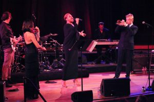 Serena McKinney and Lisa Fischer perform with Chris Botti, Ozawa Hall, Tanglewood, Aug. 5, 2012.