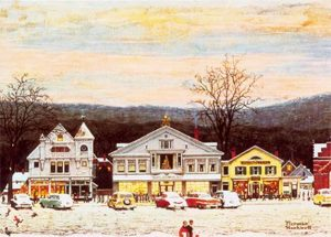 Norman Rockwell's Stockbridge Main Street at Christmas